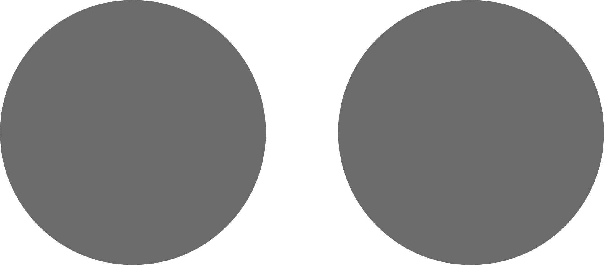 illustration of 1st step in tutorial, two circles