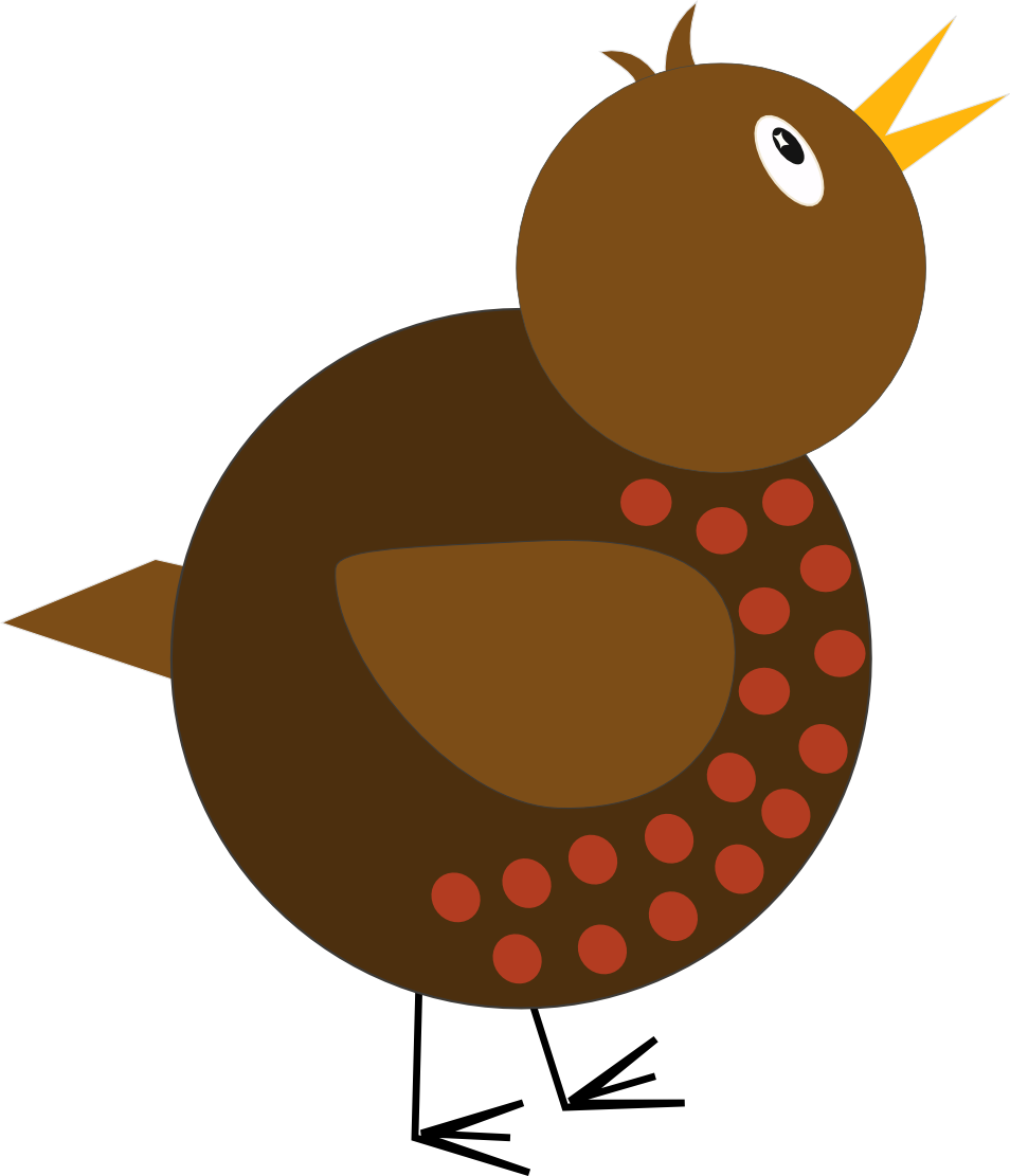 Vector drawing of whimsical bird