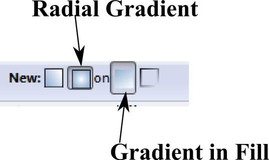 screen shot of radial gradient and gradient in fill