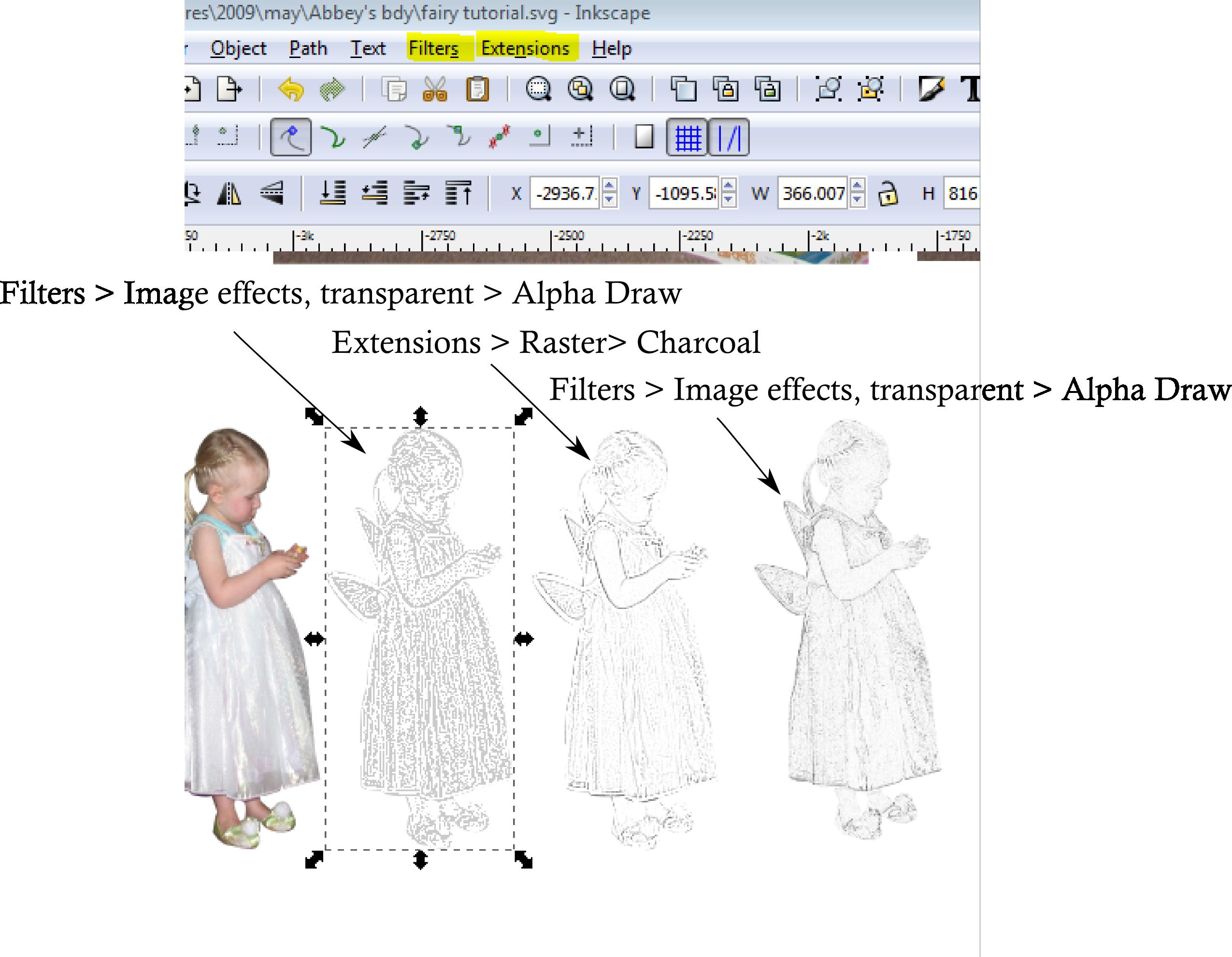 Screen capture of edited photo