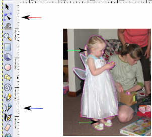 Outlining the imported photo
