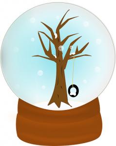 illustration of a snow globe