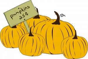 Pumpkins 25 cents