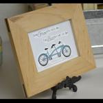 tandem bike framed
