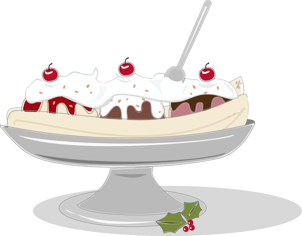Christmas Banana Split
