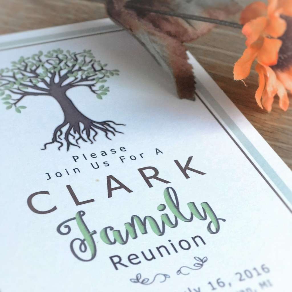 Family Reunion Logo Design - Invitation