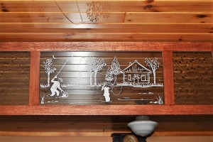 Etched Glass Designs on Transom Window