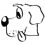 Here's a simple dog drawing downloaded from openclipart.org