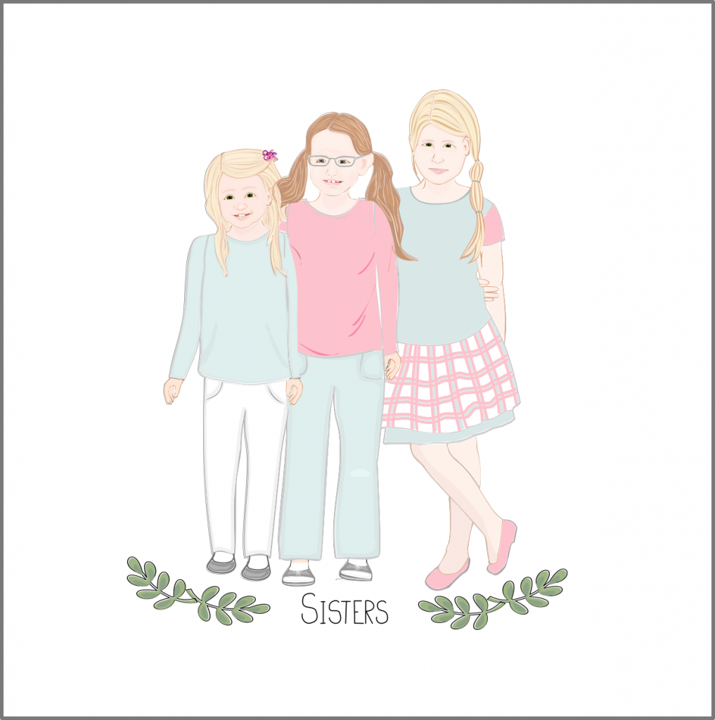 Illustration of 3 young girls