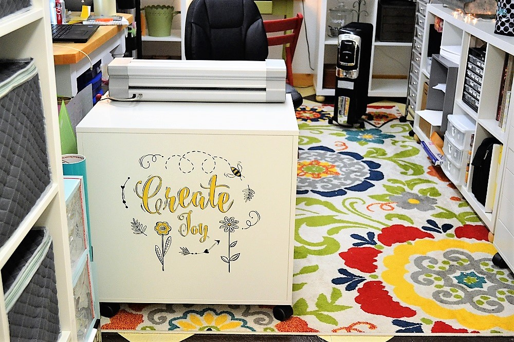 Photo of Ikea Drawer Unit with Vinyl Decal on the back