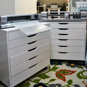 Photo of Craft Room with Alex Drawer Units